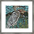 Heron On Connor Creek Framed Print