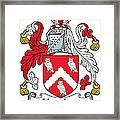 Hewlett Coat Of Arms Irish Framed Print