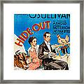 Hide-out, From Left Maureen Osullivan Framed Print