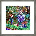 High Satch Scarecrow In A Hat Framed Print