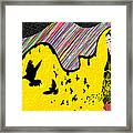 Hijab Fashion Abstraction De Dina Framed Print by Kenal Louis