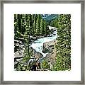 Hiking In Mistaya Canyon Along Icefield Parkway In Alberta Framed Print