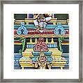 Hindu Temple Deity Statues Framed Print by Tim Gainey