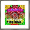 Hippie Art Framed Print