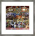 Historical Carousel In Tennessee Framed Print