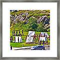Historical Reenactment Near Visitor's Center In Signal Hill National Historic Site In St. John's-nl Framed Print