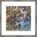 Hogdog And Hunter Framed Print