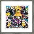 Holding Her Community Close To Her Heart  Framed Print