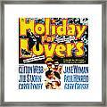 Holiday For Lovers, Us Poster Art Framed Print