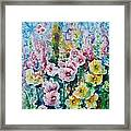 Hollyhocks  Framed Print