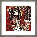 Holsteins At Christmas Time Framed Print