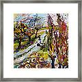 Home For The Holidays Framed Print by Ginette Callaway