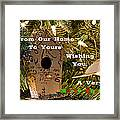 Home In The Tree W Text Framed Print