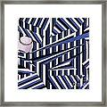 Home Run In Blue Framed Print by Anthony Morris