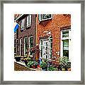Homes Along The Canal In Enkhuizen-netherlands Framed Print