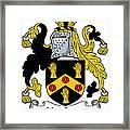 Hopkins Coat Of Arms Irish Framed Print