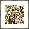 Horse Abstract Neutral Framed Print
