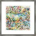 Horse Painting.20 Framed Print