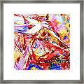 Horse Painting.28 Framed Print
