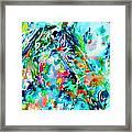 Horse Painting.30 Framed Print
