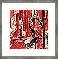 Horseshoe Door Handle Framed Print by Paul Ward