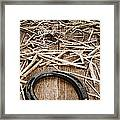 Horseshoe On Barn Floor Framed Print