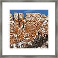 Horsetooth Up Close Framed Print by Paul Berger