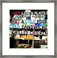 Hot And Cold Foods Framed Print