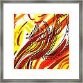 Hot Lines Twist Abstract Framed Print