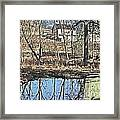 House And The Reflecting Pool Framed Print