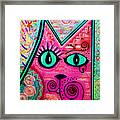 House Of Cats Series - Catty Framed Print by Moon Stumpp