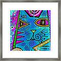 House Of Cats Series - Dots Framed Print