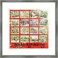 House Rendering Card Framed Print