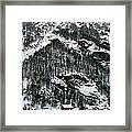 Houses In A Village In Winter, Tasch Framed Print