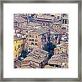 Houses Of Old City Of Siena - Tuscany - Italy - Europe Framed Print