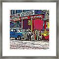 How To Change A Tire Comic Framed Print