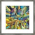 Hues And The Blues Framed Print