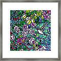 Hummingbird Tiffany Style Framed Print