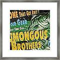 Humongous Brothers Framed Print
