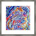 I Am Love Framed Print