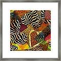 I Heart Animals Framed Print