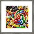 I Love Candy Framed Print