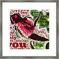 I Love You Only Abstract Framed Print