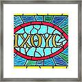 Icthus Sign Of The Fish Framed Print