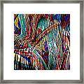 Iguana In The Rough Framed Print