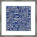 Illinois College Colors Subway Art Framed Print by Replay Photos