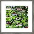 Illustration Of A Village Framed Print