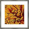 Imagination In Hot Vivid Yellows Framed Print