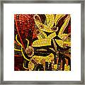 Imagination In Reds And Yellows Framed Print