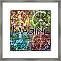 Imagine Framed Print by Evie Cook